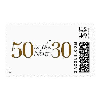 50 es los nuevos 30 estampilla