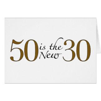 50 es los nuevos 30 tarjeta de felicitación