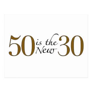 50 es los nuevos 30 tarjeta postal