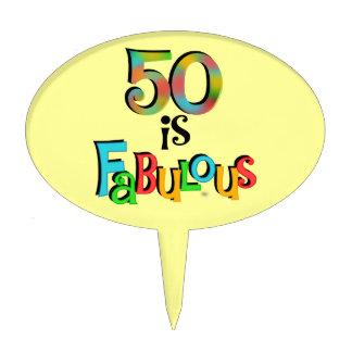 50 es primero fabuloso de la torta decoración para tarta