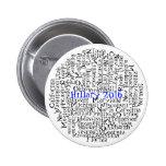 50 estados en 1 botón Hillary Clinton 2016 Pin Redondo De 2 Pulgadas
