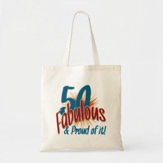 50 fabuloso y orgulloso de él bolsa tela barata