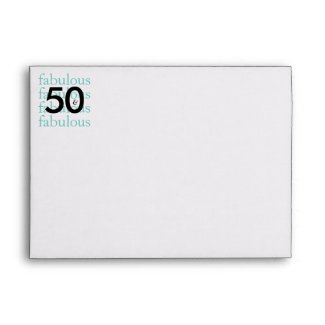 50 & Fabulous 50th Birthday Printed Return Address Envelope