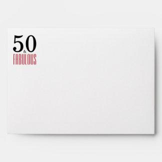 50 & Fabulous 50th Birthday Return Address Printed Envelope
