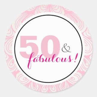 50 & Fabulous 50th Birthday Stickers