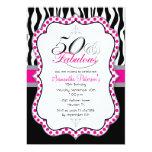 """50 & Fabulous Birthday Party Invitation 5"""" X 7"""" Invitation Card"""