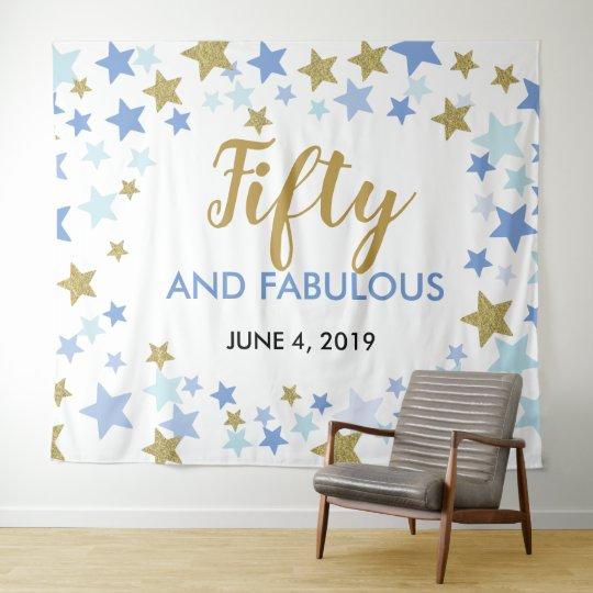 50 Fabulous Birthday Photo Booth Backdrop Banner