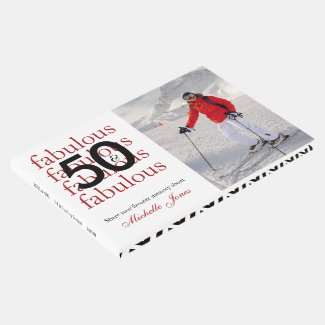 50 & Fabulous – Custom Photo & Name 50th Birthday Guest Book