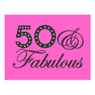 50 & Fabulous Postcard