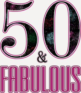 50 Fabulous Typography Black Pink 50th Birthday T Shirt