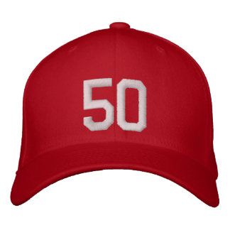 50 Fifty Embroidered Baseball Hat