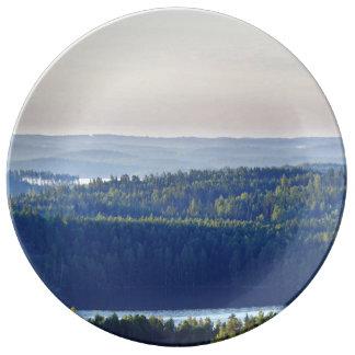 50 Foot View Of Saimaa Lake Porcelain Plates