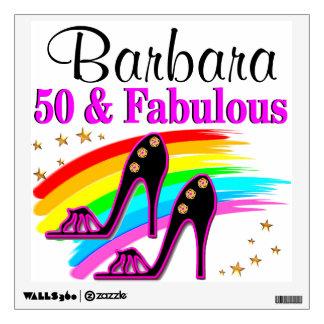 50, FOXY, AND FABULOUS WALL STICKER