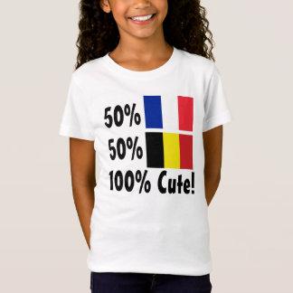 50% French 50% Belgian 100% Cute T-Shirt