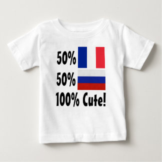 50% French 50% Russian 100% Cute Baby T-Shirt