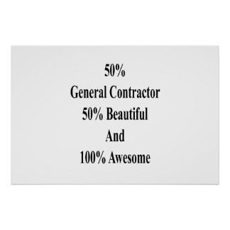 50 General Contractor 50 Beautiful And 100 Awesome Poster