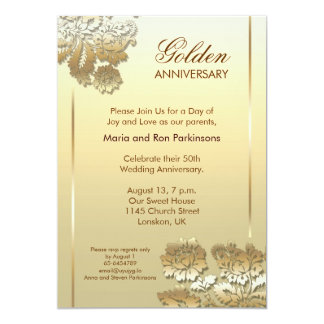 Golden Anniversary Invitations & Announcements | Zazzle