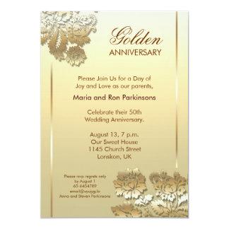 Golden anniversary invitations announcements zazzle 50 golden anniversary invitation stopboris Gallery