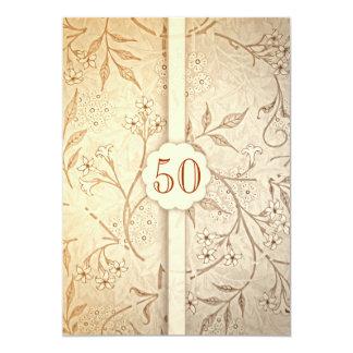"50 golden wedding anniversary invitations 5"" x 7"" invitation card"