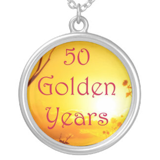 50 Golden Years Anniversary Necklace