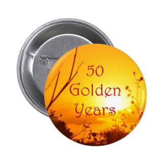 50 Golden Years Button