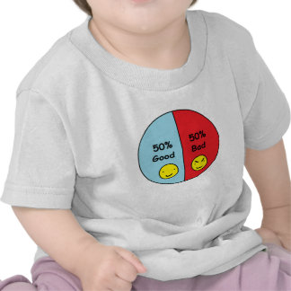 50 Good and 50 Bad Pie Chart Shirt