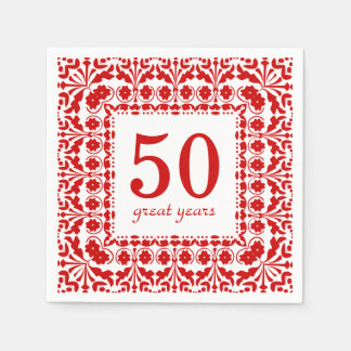 50 Great Years Birthday or Anniversary Disposable Napkin
