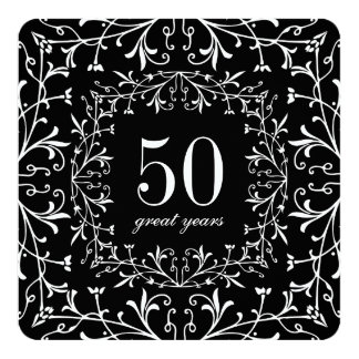 50 Great Years Black Tie Birthday or Anniversary Card