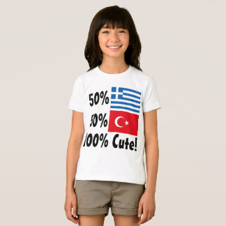 50% Greek 50% Turkish 100% Cute T-Shirt
