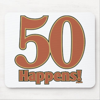 50 happens! - PINK Mouse Pad