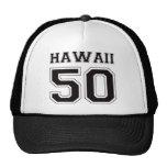 50 Hawaii - Black Trucker Hat