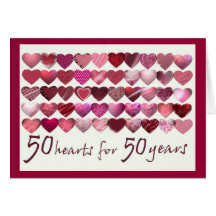 50 Hearts for 50 Years! Cards