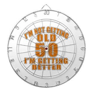 50 I Am Getting Better Dartboard