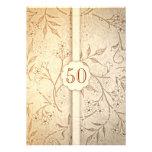 50 invitaciones del aniversario de boda de oro