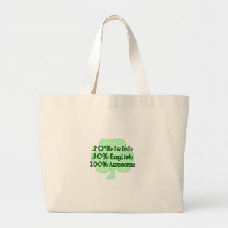 50% Irish 50% English 100% Awesome Canvas Bag