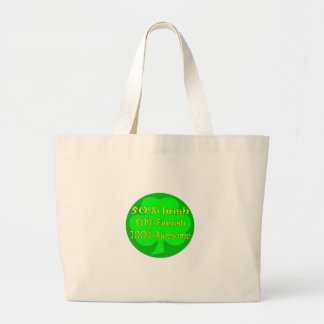 50% Irish 50% Finnish 100% Awesome Tote Bag