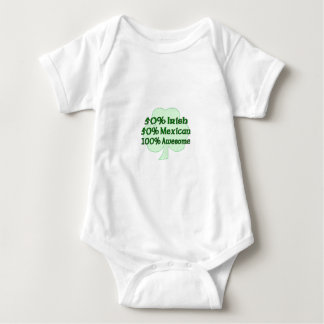 50% Irish 50% Mexican 100% Awesome Baby Bodysuit