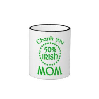 50% Irish - Thanks Mom Mugs