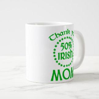 50% Irish - Thanks Mom Extra Large Mug