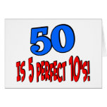 50 is 5 perfect 10s (BLUE) Card