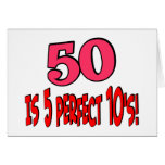 50 is 5 perfect 10s (PINK) Card