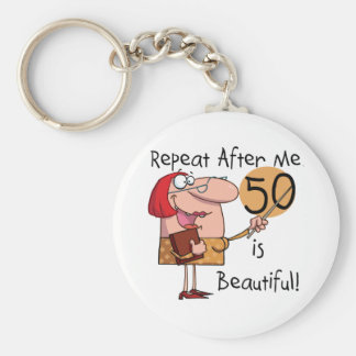 50 is Beautiful Tshirts and Gifts Keychain