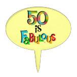 50 is Fabulous Cake Topper
