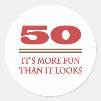 50 Is Fun Sticker