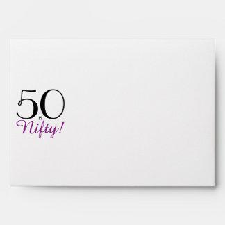 50 is Nifty! Invitation Envelope w/ Return Address
