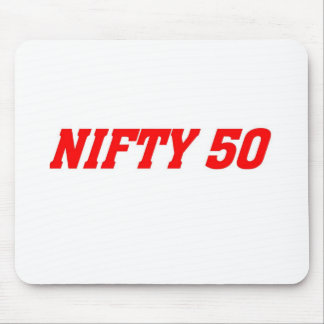 50 is nifty mouse pad