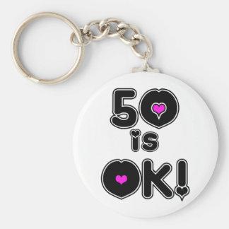 50 is OK Birthday Keychain