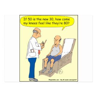 50 Is The New 30 Cartoon Postcard