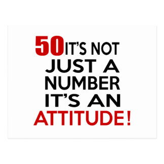 50 it's not just a number it's an attitude postcard