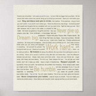 50 lecciones de la vida para mi hija póster